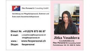 flex personal St.Gallen Jitka Vosahalova