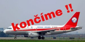 Sichuan Airlines ruší linku do Prahy