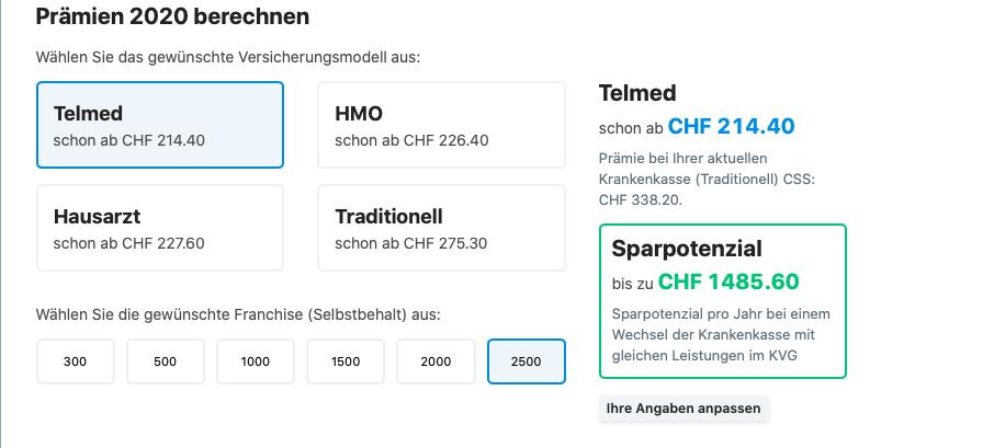 telme zdravotní pojištěni svycarsko