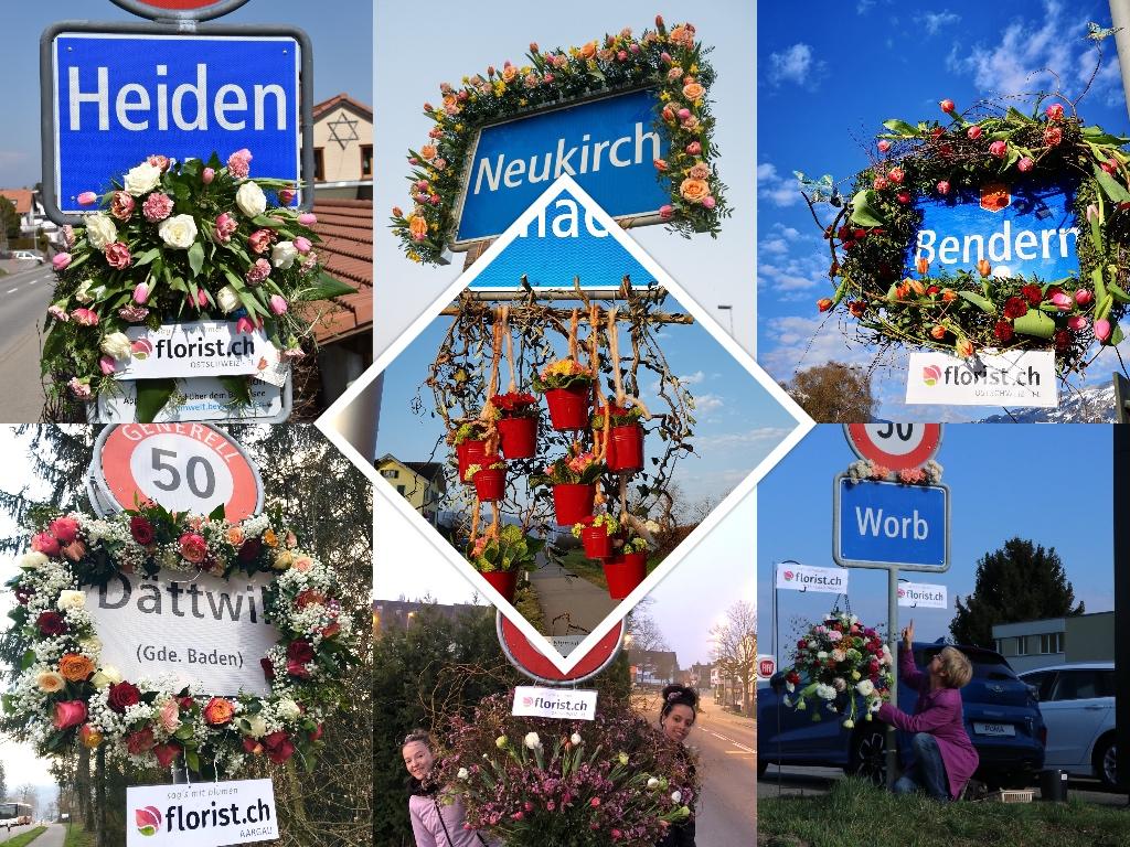floristky ve Švýcarsku řekli díky květinou