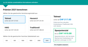zdravotní pojištěni Svycarsko 2021